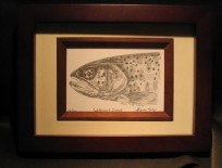 Framed Cutthroat Trout Lithograph